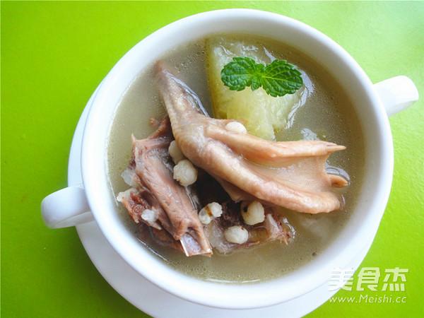冬瓜薏米煲老鸭的做法_家常冬瓜薏米煲老鸭的