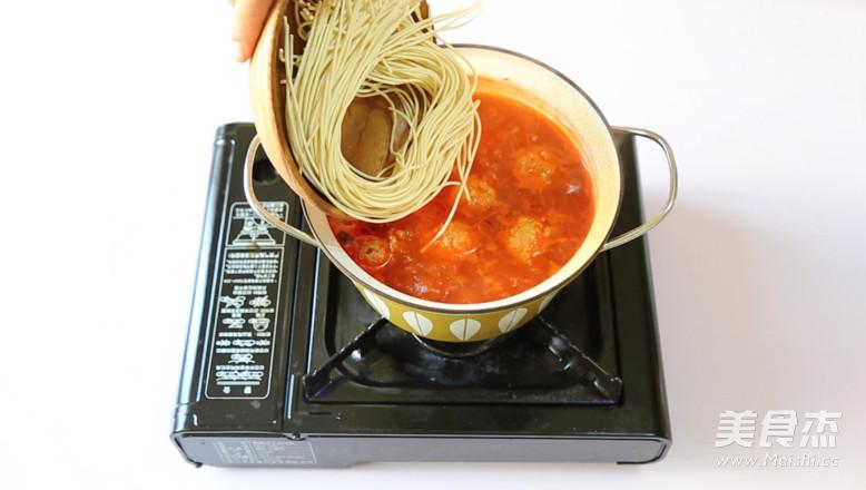 红果家肉丸之家常茄汁八卦面的_做法红果家菜兔菜谱菜谱图片