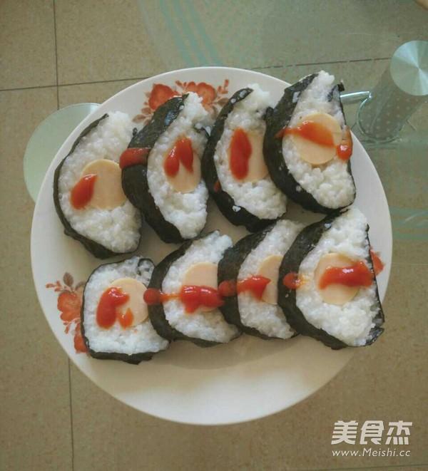 香肠寿司的做法_家常香肠寿司的做法