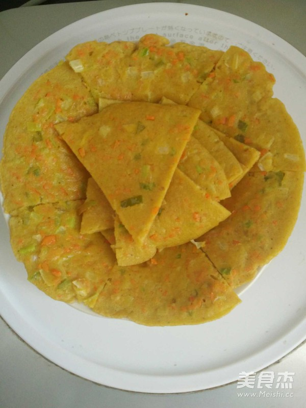 玉米面雞蛋餅的做法_家常玉米面雞蛋餅的做法