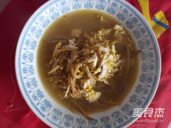 干黄花菜鸡蛋汤_2016117午饭_炒饭黄花菜鸡蛋汤