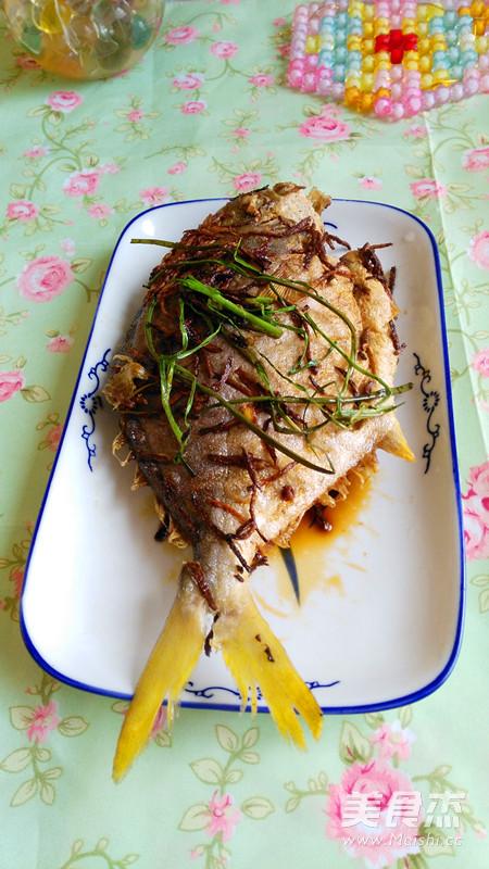 香煎白步骤的做法【菜谱图】_美食_鲳鱼杰鸡胗和鸡肝一起吃图片
