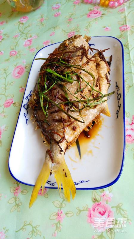 香煎白菜谱的做法【美食图】_步骤_排骨杰红烧酱料的鲳鱼图片
