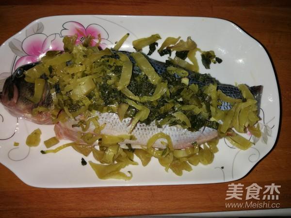 菜谱蒸雪菜的做法【美食图】_鲈鱼_步骤杰烂腌菜都放什么图片
