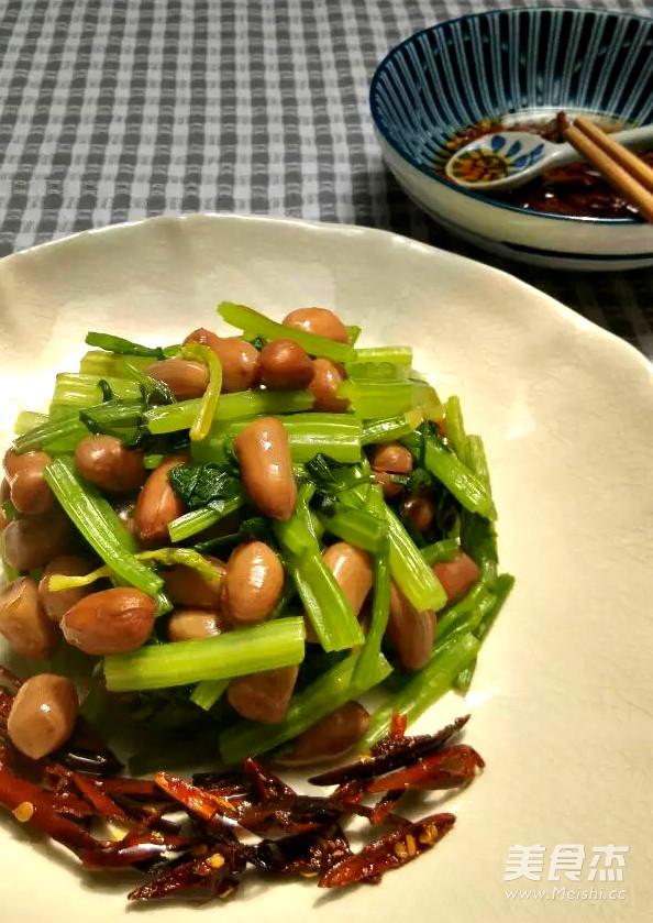 水煮做法拌做法的芹菜【美食图】_豌豆_步骤菜谱苗炒肉的花生图片
