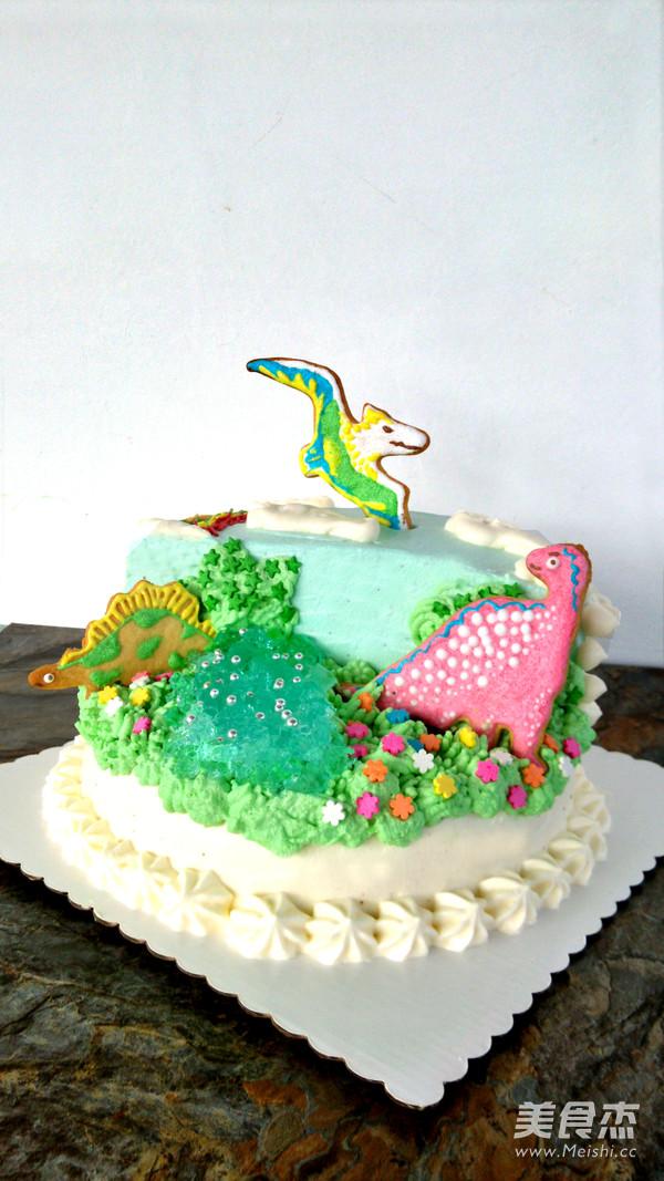 侏罗纪恐龙生日蛋糕