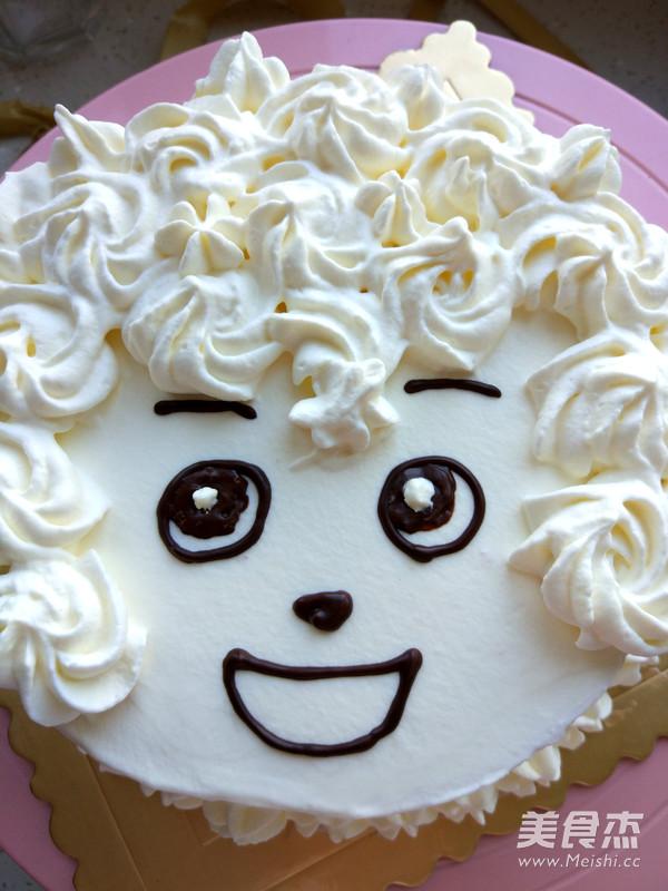 六寸喜羊羊生日蛋糕