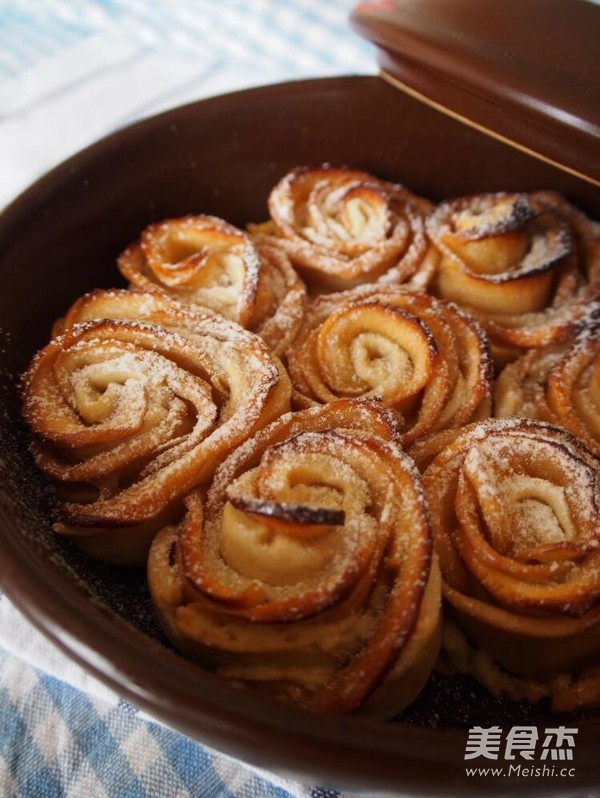 玫瑰花苹果派的做法_家常玫瑰花苹果派的做法