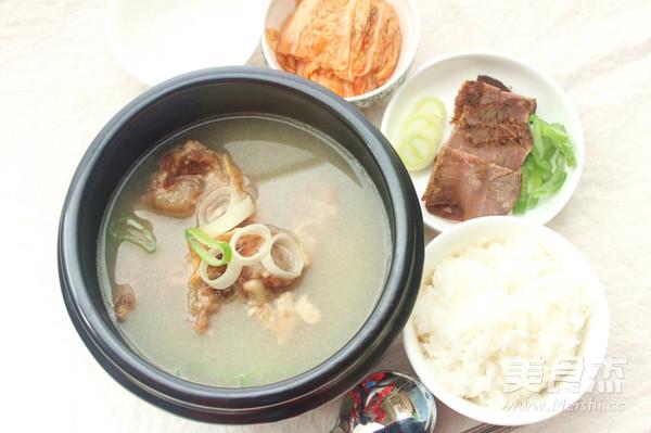 韩式田鸡汤的小炒【做法图】_牛尾_做法杰美食大全的菜谱步骤图片
