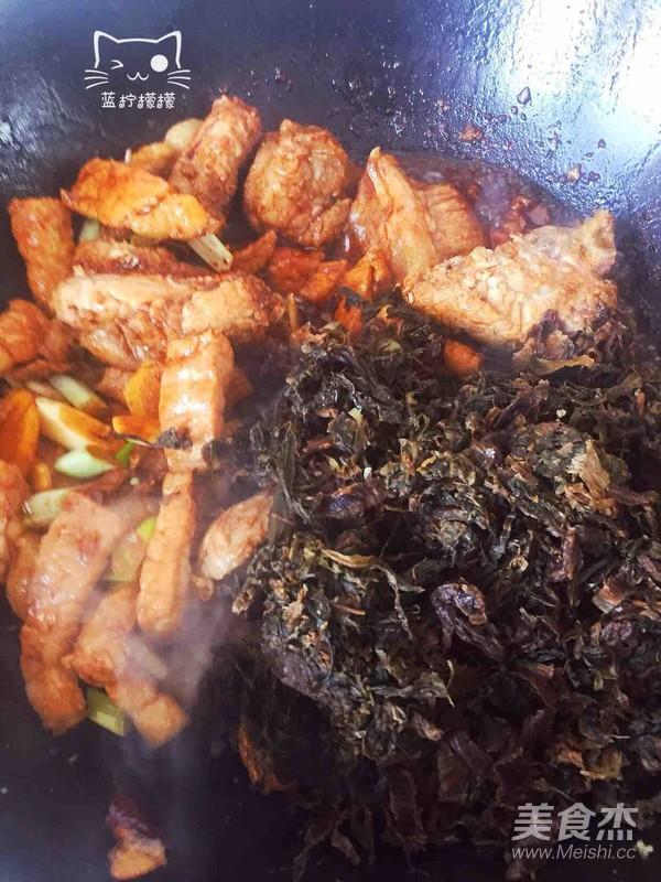 梅美食炖排骨的牛尾【排骨图】_做法_菜谱杰牛步骤干菜图片