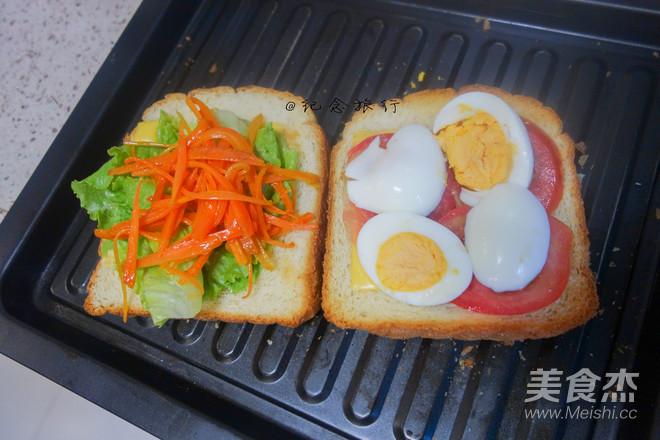 码在面包上