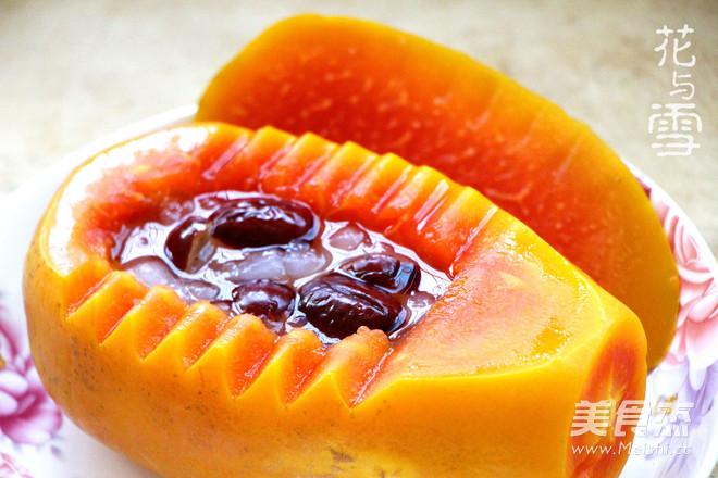 经典木瓜炖雪蛤的做法