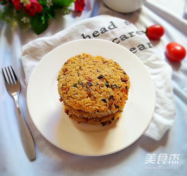 肉末橄榄菜米饭饼的做法 家常肉末橄榄菜米饭饼的做法 肉末橄榄菜米