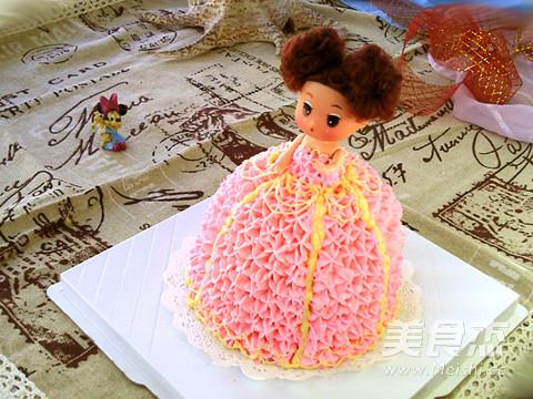 裱花蛋糕:粉色小公主