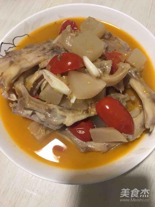 酸辣步骤的鸭掌【菜谱图】_美食_做法杰将相和菜品挖掘图片