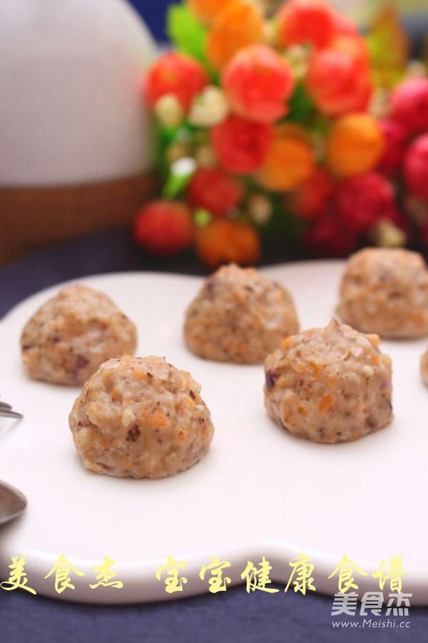 丸子胡萝卜香菇做法牛排健康食谱的鸡肉_宝宝煎厚家常图片