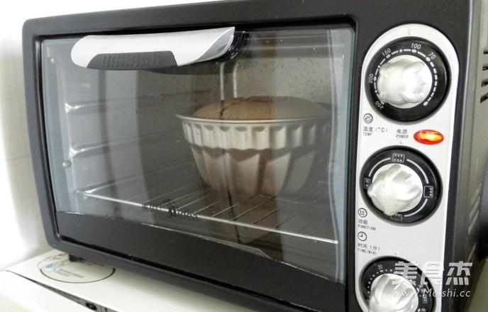 可可戚风咕咕霍夫蛋糕7寸#长帝烘焙节#的做法