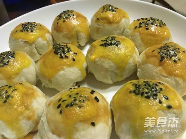 蛋黄酥、抹茶红豆酥的做法_家常蛋黄酥、抹茶红豆酥的做法