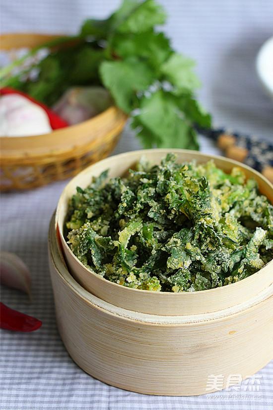 粉蒸茼蒿的做法 菜谱