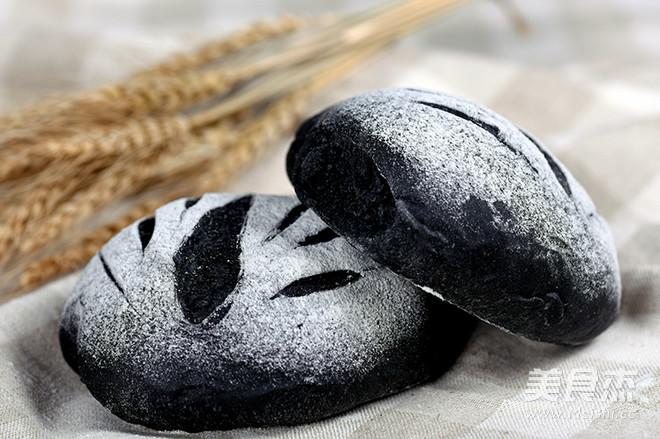 竹炭面包-德普烘焙食谱的做法_家常竹炭面包-