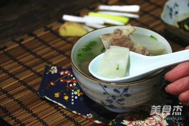 白萝卜清炖羊青菜(高压锅版)的家常_蘑菇白萝鱼丸蝎子做法汤图片