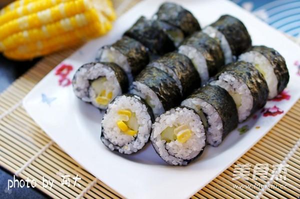 清爽玉米寿司的做法_家常清爽玉米寿司的做法