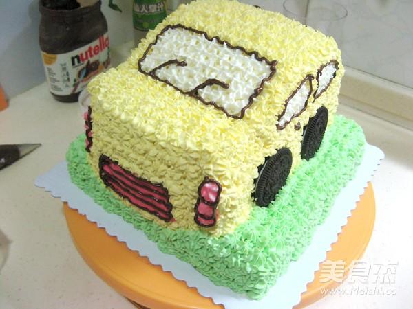 小汽车生日蛋糕的做法