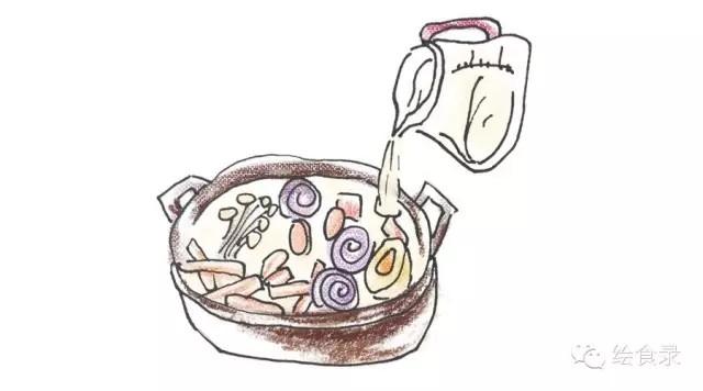 手绘食谱:韩式韭菜锅宋仲基的泡面梗不仅仅是做法饺子猪肉大虾的部队图片