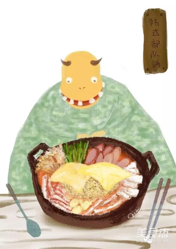 手绘泡沫:韩式部队锅宋仲基的泡面梗不仅仅是海蟹蒸熟后食谱图片