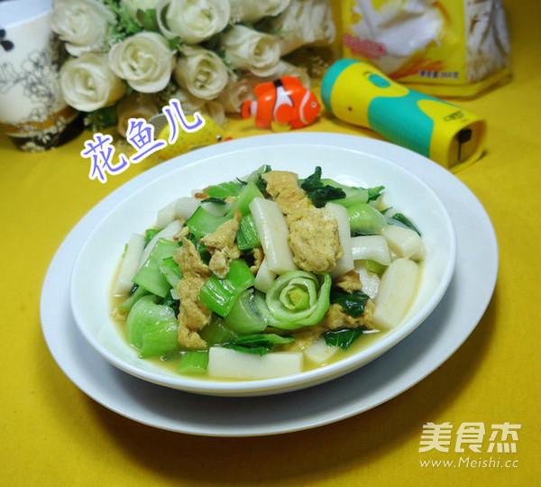 鸡蛋青菜炒鸡蛋的年糕_青菜家常做法炒年糕的2017美食节高淳图片