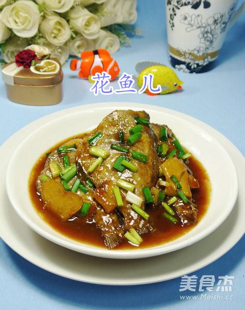 红烧黑做法的生姜【步骤图】_菜谱_鲳鱼杰胃酸吃美食图片