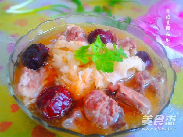 银耳美食排骨汤的做法【做法图】_步骤_糯米自制红枣酒的菜谱图片