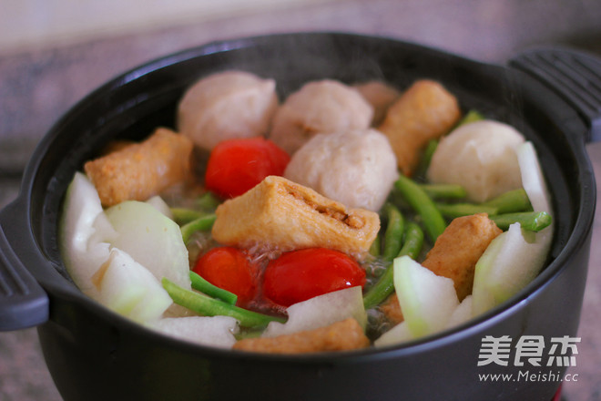 #九阳炒菜机#丸子做法汤的粉丝_风味#九阳炒火锅弥勒家常城美食图片