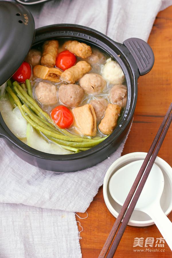 #九阳炒菜机#粉丝丸子汤的做法_家常#九阳炒美食北仍村图片