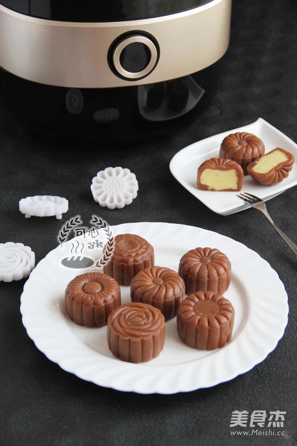 巧克力控不容错过的冰皮月饼的做法
