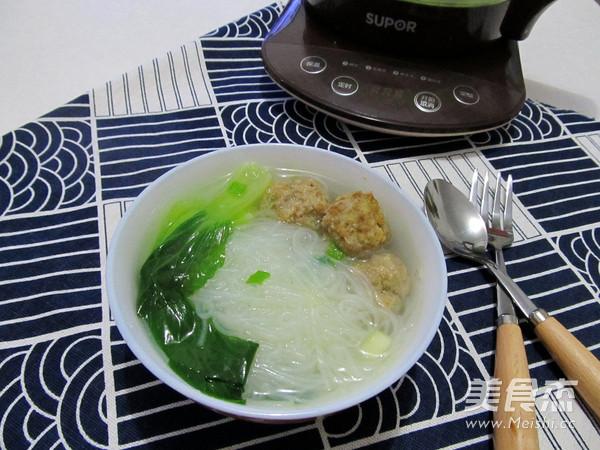 青菜粉丝肉丸汤#苏泊尔第三季晋级赛#的美食做法1网站图片