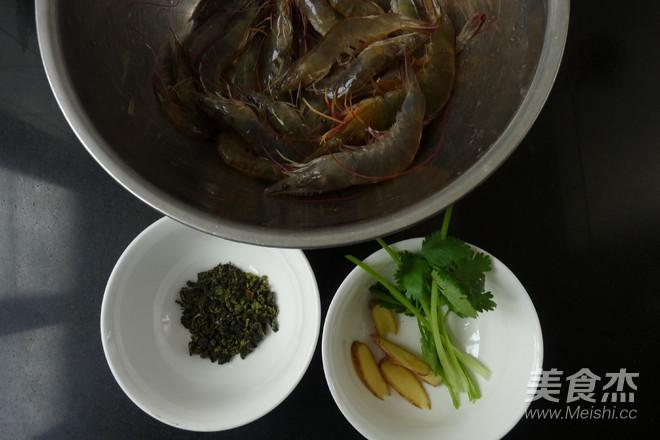 香茶白灼虾的做法