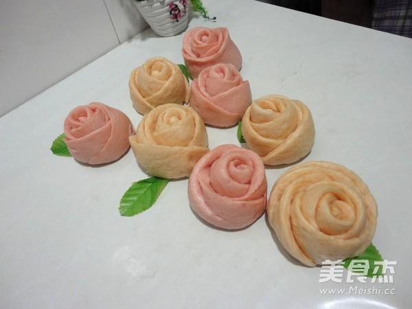 浪漫玫瑰花馒头