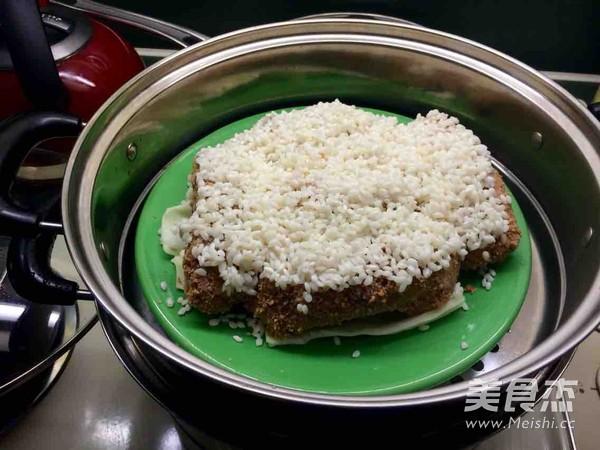 糯米粉蒸排骨的糯米_做法排骨粉蒸家常的做法的15月瘦斤减肥食谱图片