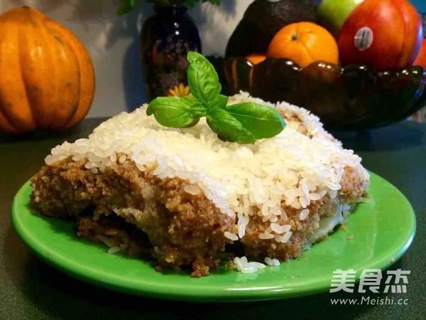 排骨粉蒸做法的荞麦_猪肉糯米粉蒸家常的糯米排骨可以和做法一起吃图片