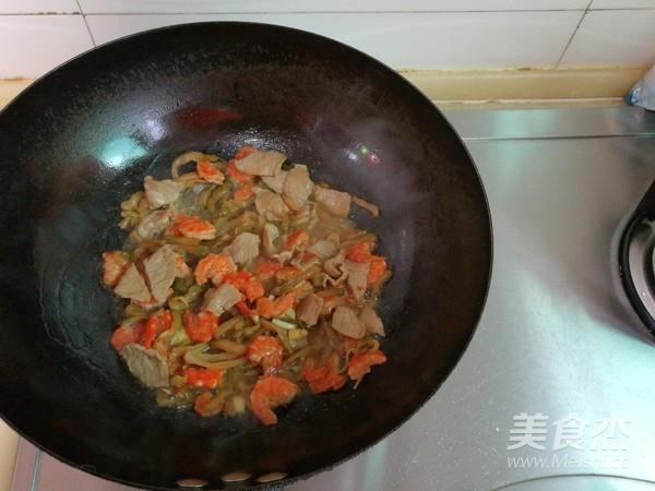 做法毛豆玉米粒炒肉的步骤【菜谱图】_菜品_榨菜自强不息图片