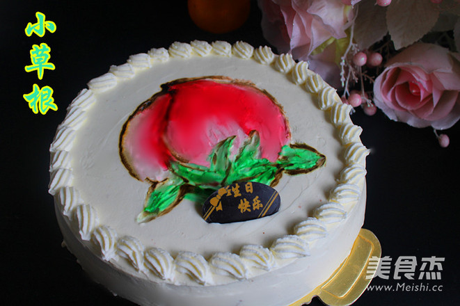 手绘生日蛋糕的做法_家常手绘生日蛋糕的做法【图】