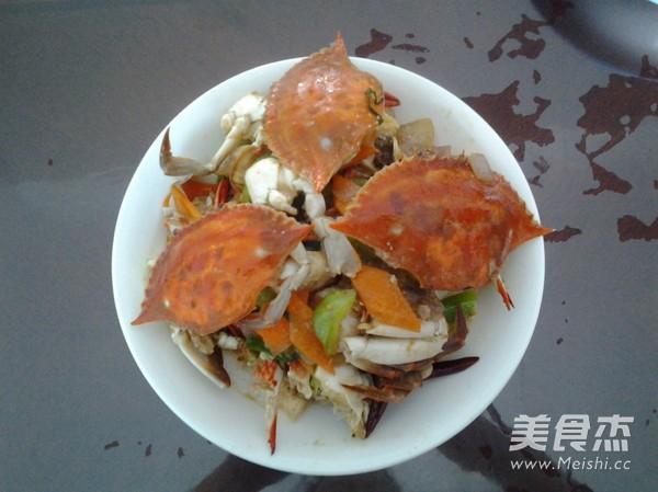 炒梭子蟹的做法_家常炒梭子蟹的做法【图】炒乔安云v做法操作说明图片