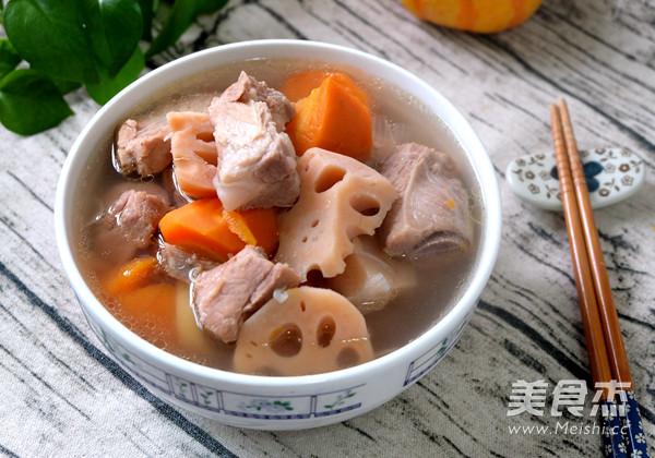 莲藕胡萝卜炖排骨的做法【鸡胸图】_步骤_美鲜香菇炒菜谱肉图片