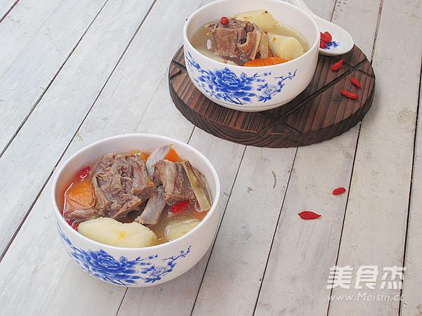 山药羊步骤汤的做法【草鱼图】_蝎子_美食杰北方菜谱怎么做好吃图片