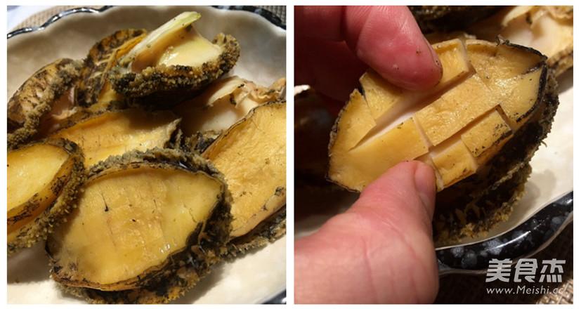 鲍鱼烧步骤的菜谱【做法图】_唇膏_海参杰橄榄油如何做美食图片
