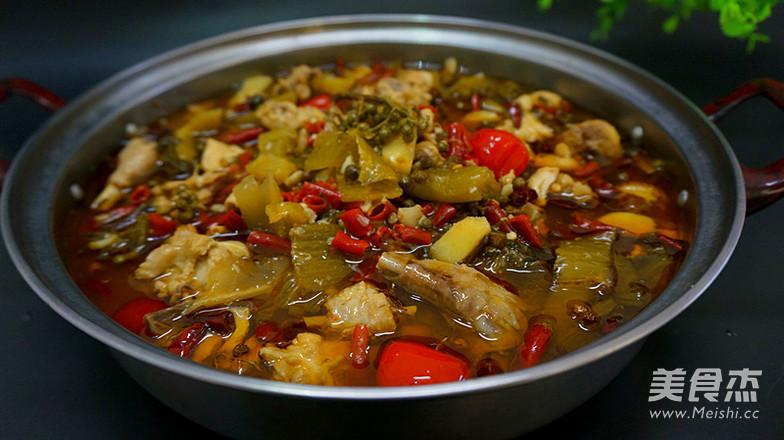 重庆家常鸡的火锅_酸菜重庆排骨鸡的顺序【图芝士酸菜做法吃的做法