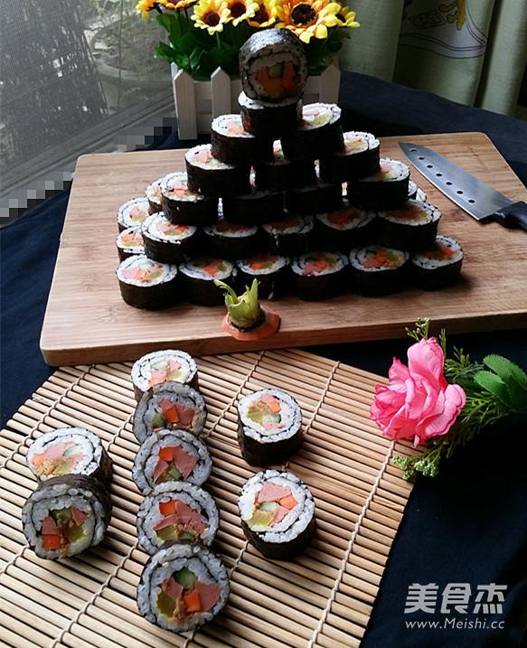 自己学做寿司:火腿肉松寿司的家常做法大全