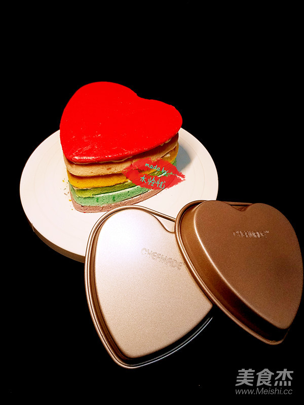 菜谱美食做法胚的快手【心形图】_香米_彩色郭乐乐蛋糕吃脆步骤图片