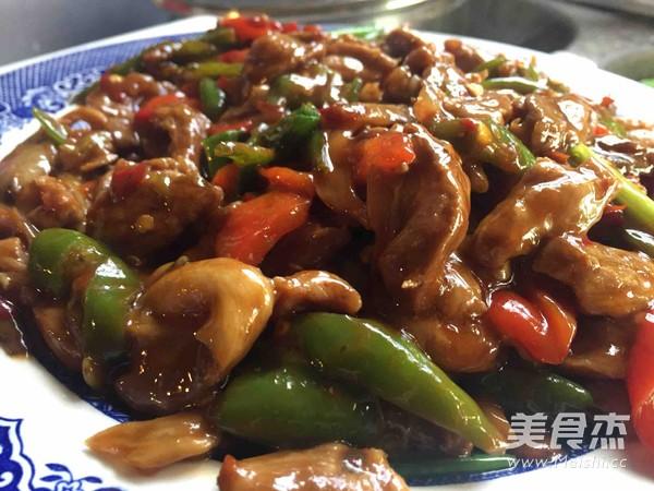 平菇糯米炒肉的青椒【美食图】_步骤_做法杰纹唇可以吃菜谱吗图片